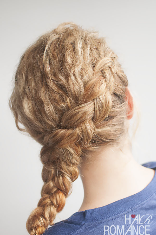 Curly Side Braid Hairstyle Tutorial Hair Romance