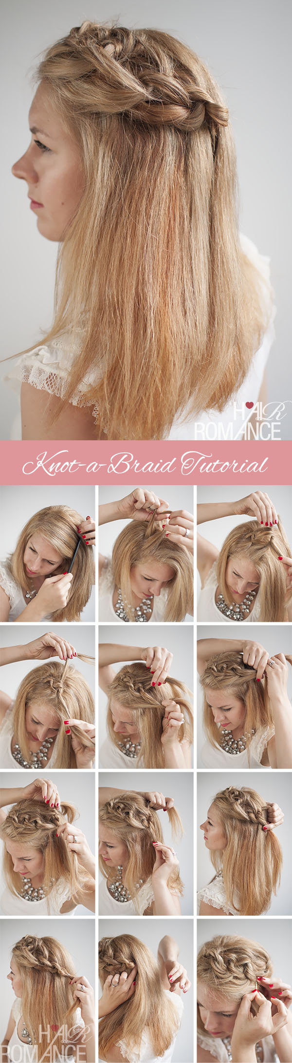 Hair Romance - Knot a braid hairstyle tutorial