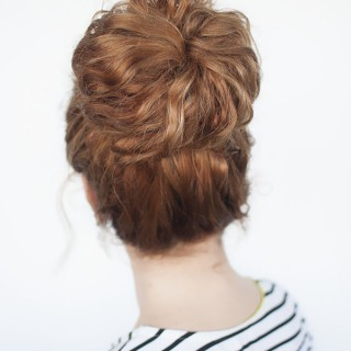 Curls Week – Curly Top Knot Hairstyle Tutorial