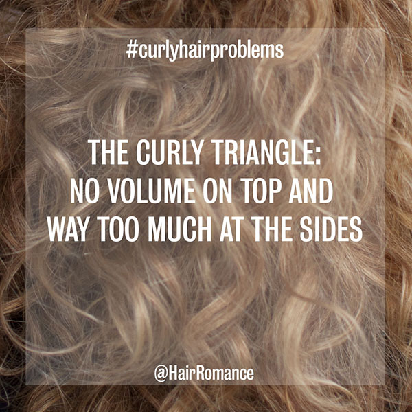 Hair Romance - curly hair problems - the curly triangle