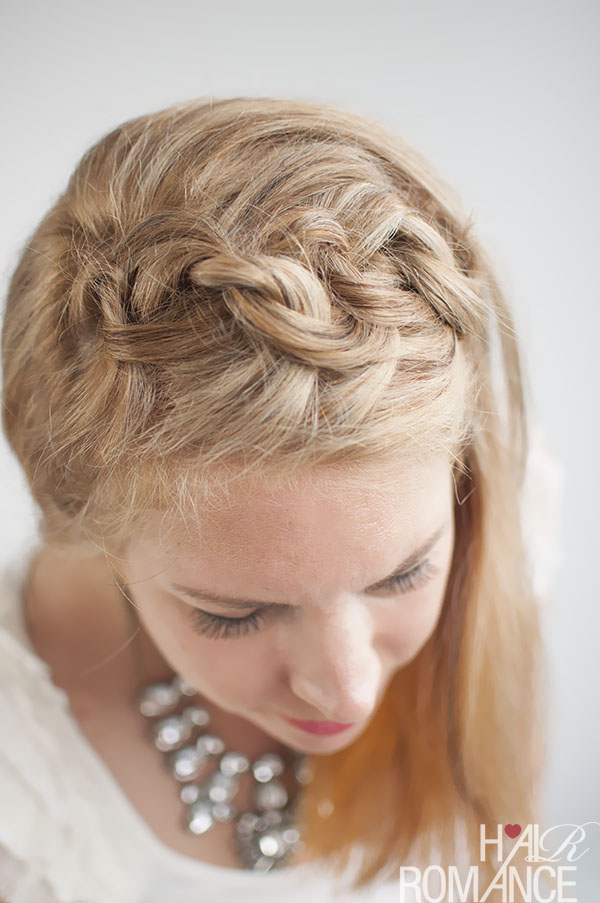 Hair Romance - the Knot a braid hair style tutorial