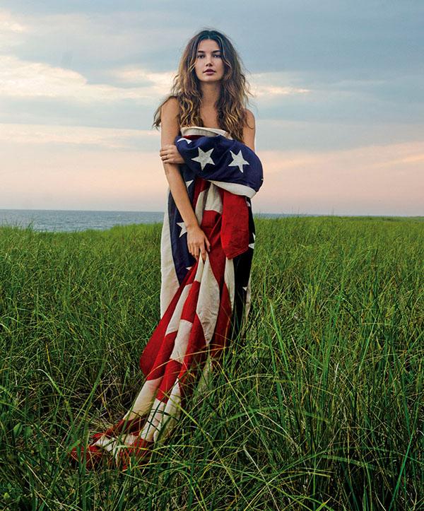 lily-aldridge-american-flag