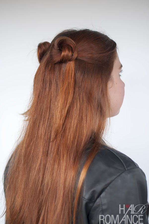 Hair Romance - 90s normcore hair - half up double buns hairstyle tutorial