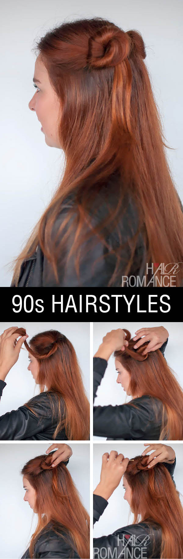 Hair Romance - half up double bun - normcore hair tutorials