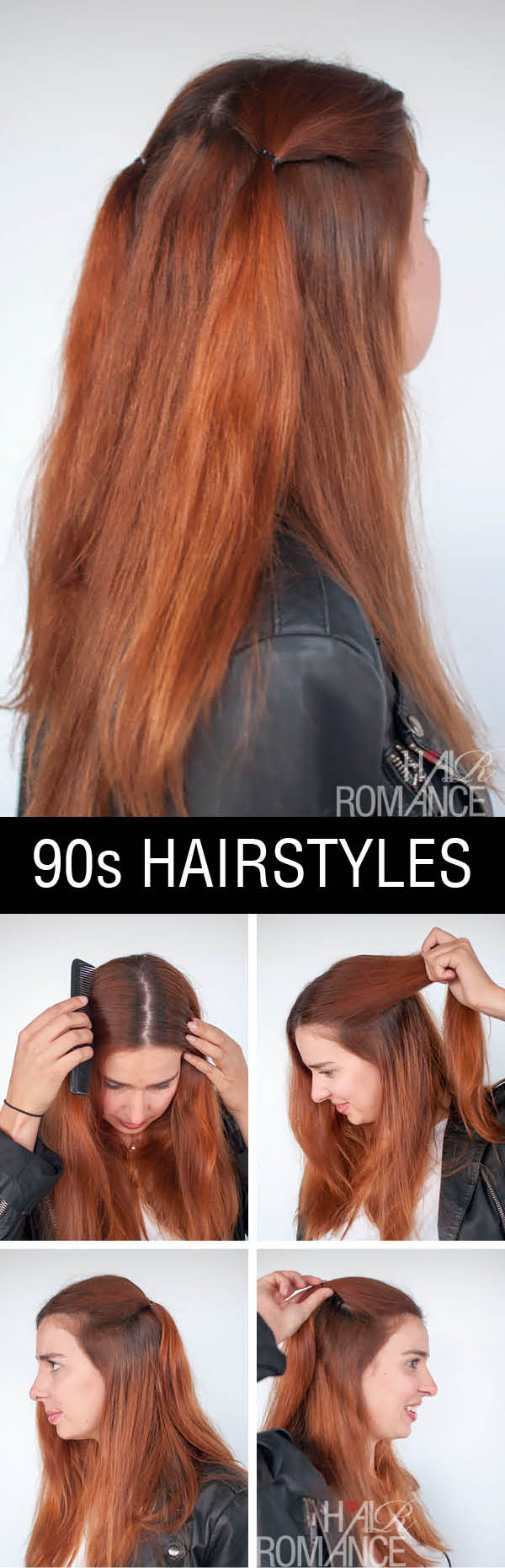 Hair Romance - half up double ponytails - normcore hair tutorials