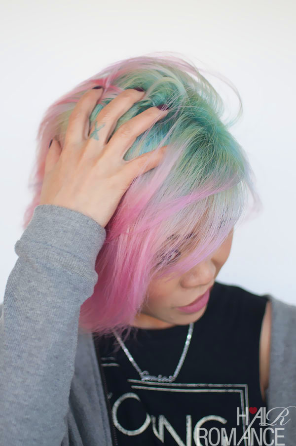 Hair Romance - Liz and her unicorn hair colour 2