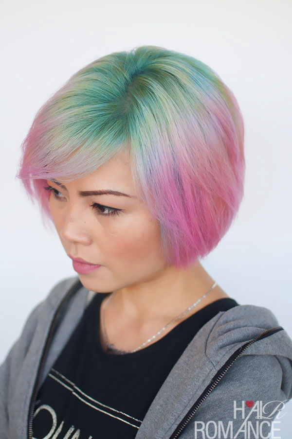 Hair Romance - Liz and her unicorn hair colour 4