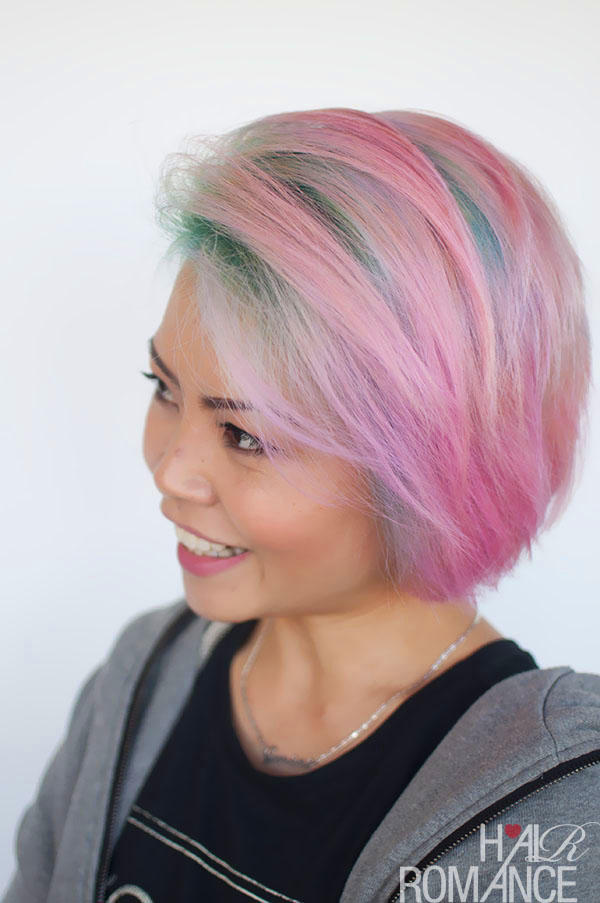 Hair Romance - Liz and her unicorn hair colour 5