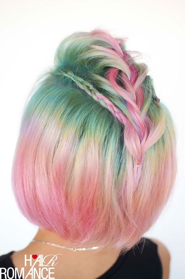 Hair Romance - Unicorn hair and faux hawk braids 1