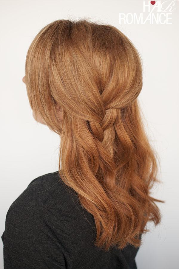 Hair Romance - half up side plait hairstyle tutorial