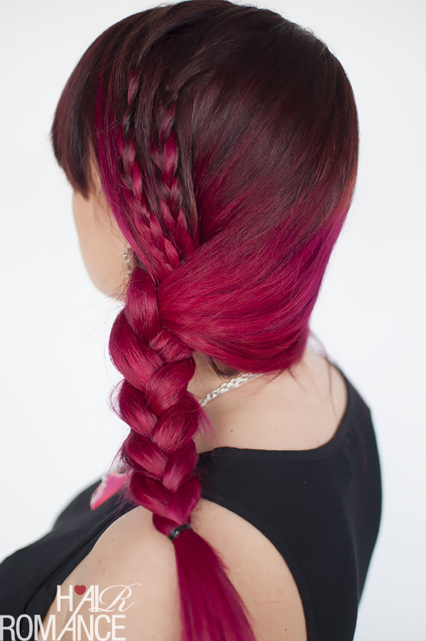 Hair Romance - pink hair plus side braid tutorials and tricks