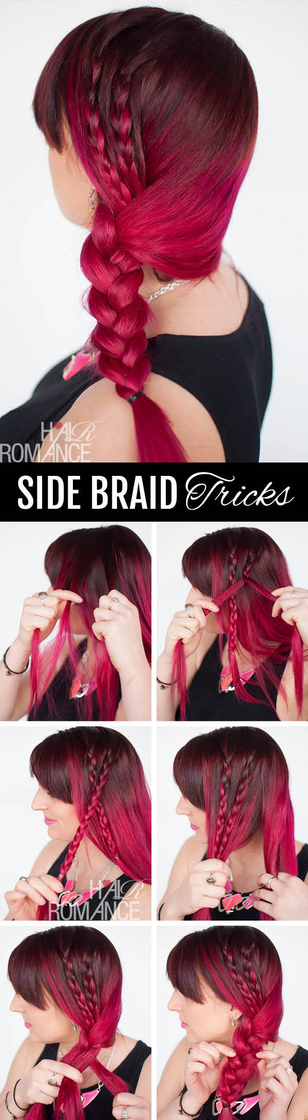 Hair Romance - side braid hairstyle tutorial plus tricks