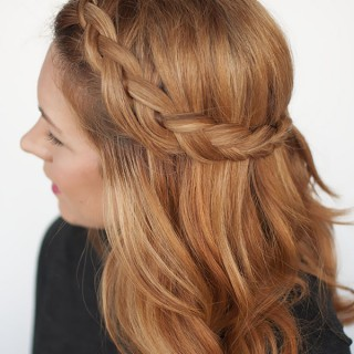 The half braid (it takes half the time!)