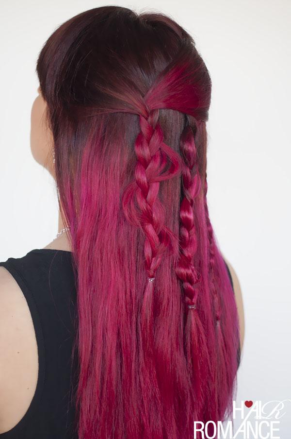 Hair Romance - uneven boho braids tutorial