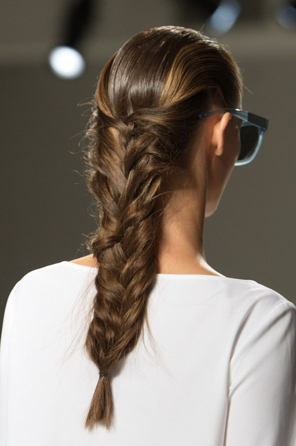 Mermaid braids at Suno NYFW SS15