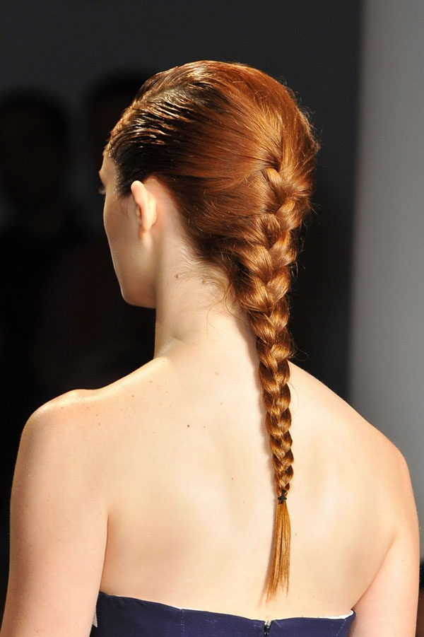 Wet hair and braids at Peter Som NYFW SS15