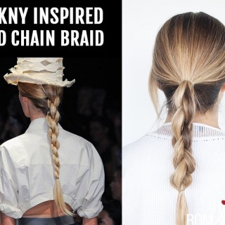 DKNY inspired 3D chain link braid tutorial