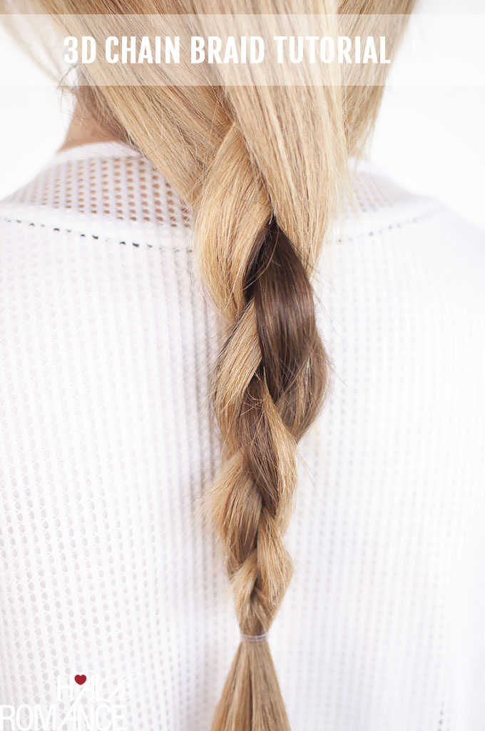 Hair Romance - DKNY inspired  3D chain link braid - click through for full tutorial