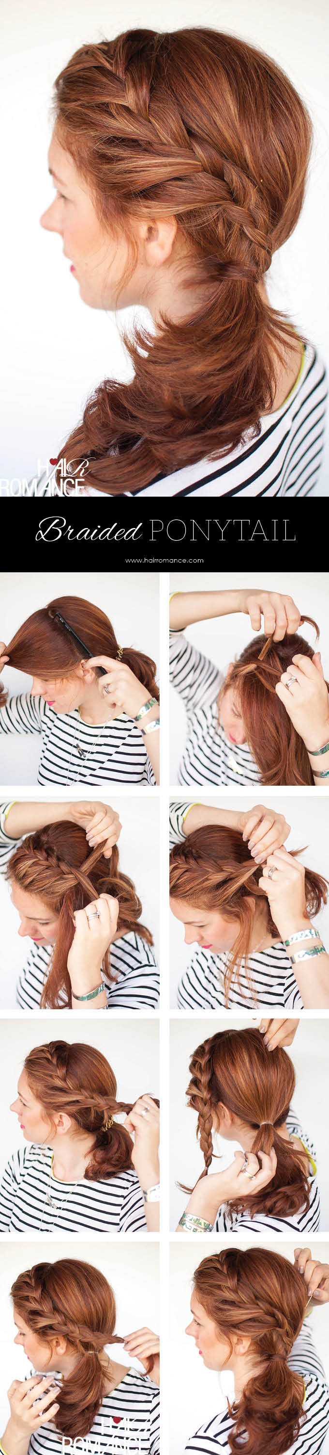 Weekend Style Braided Ponytail Tutorial Hair Romance