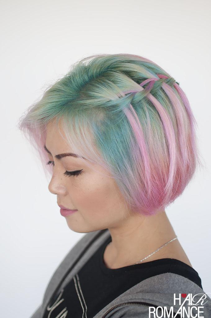 Hair Romance - the waterfall braid in short hair