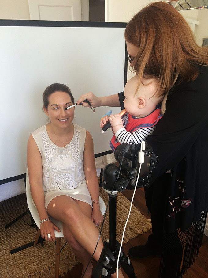 Behind the scenes on DIY Bridal Beauty with Makeup Utopia