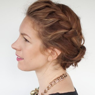 My quick everyday curly hair updo