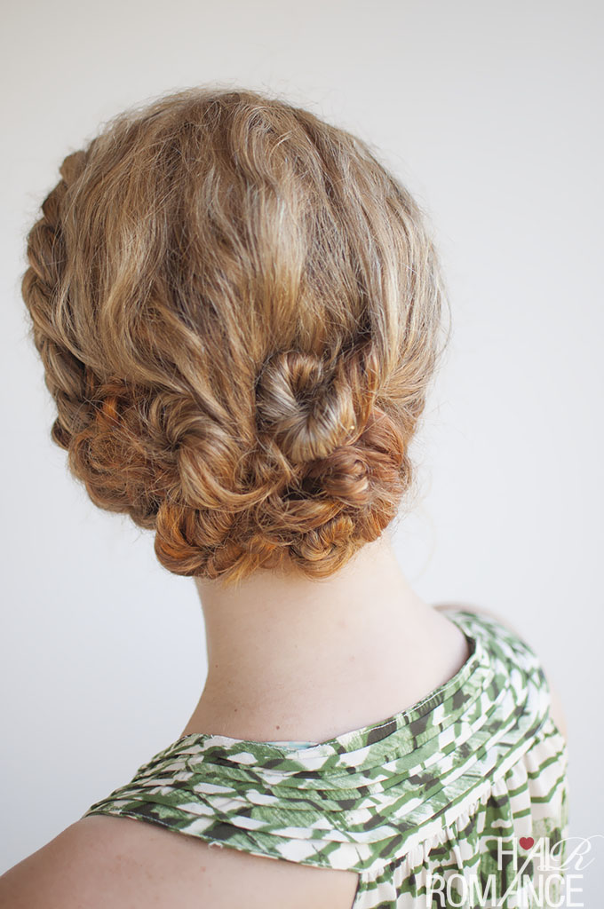 Hair Romance - Curly hair braided updo  - Click through for the tutorial