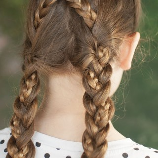 Back to school hairstyles – Criss cross braids tutorial
