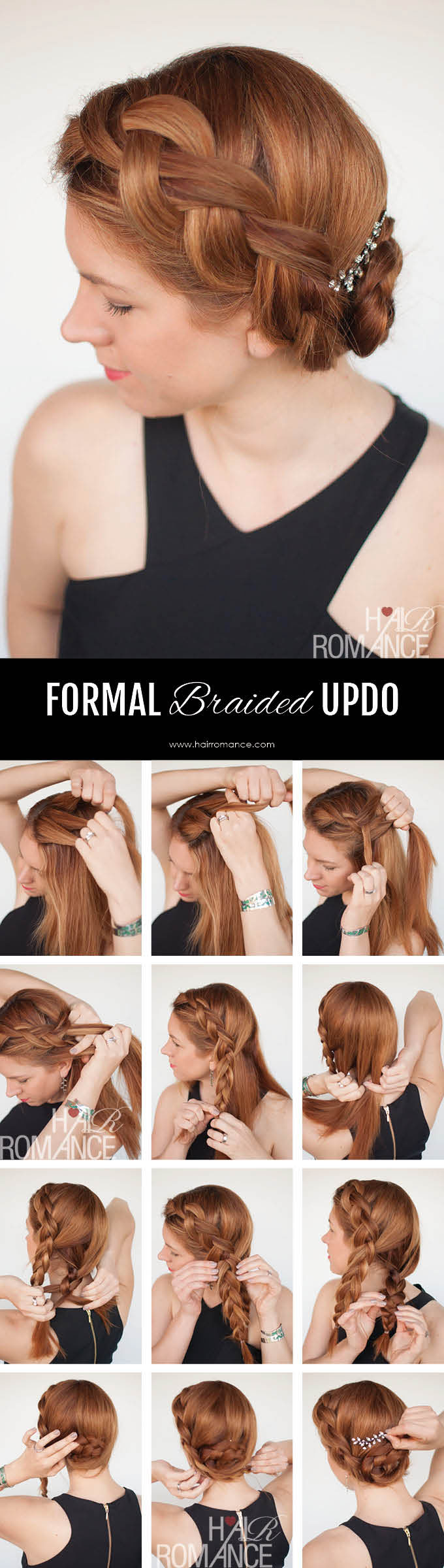 Hair Romance - Formal braided updo hairstyle tutorial