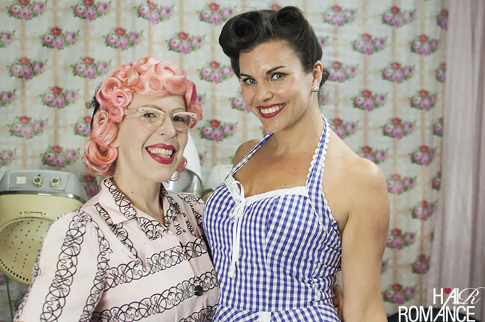 Hair Romance - Vintage hairstyle tutorial with Miss Pixie and Miss Penelope Pineapples