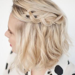 How to wear braids in short hair