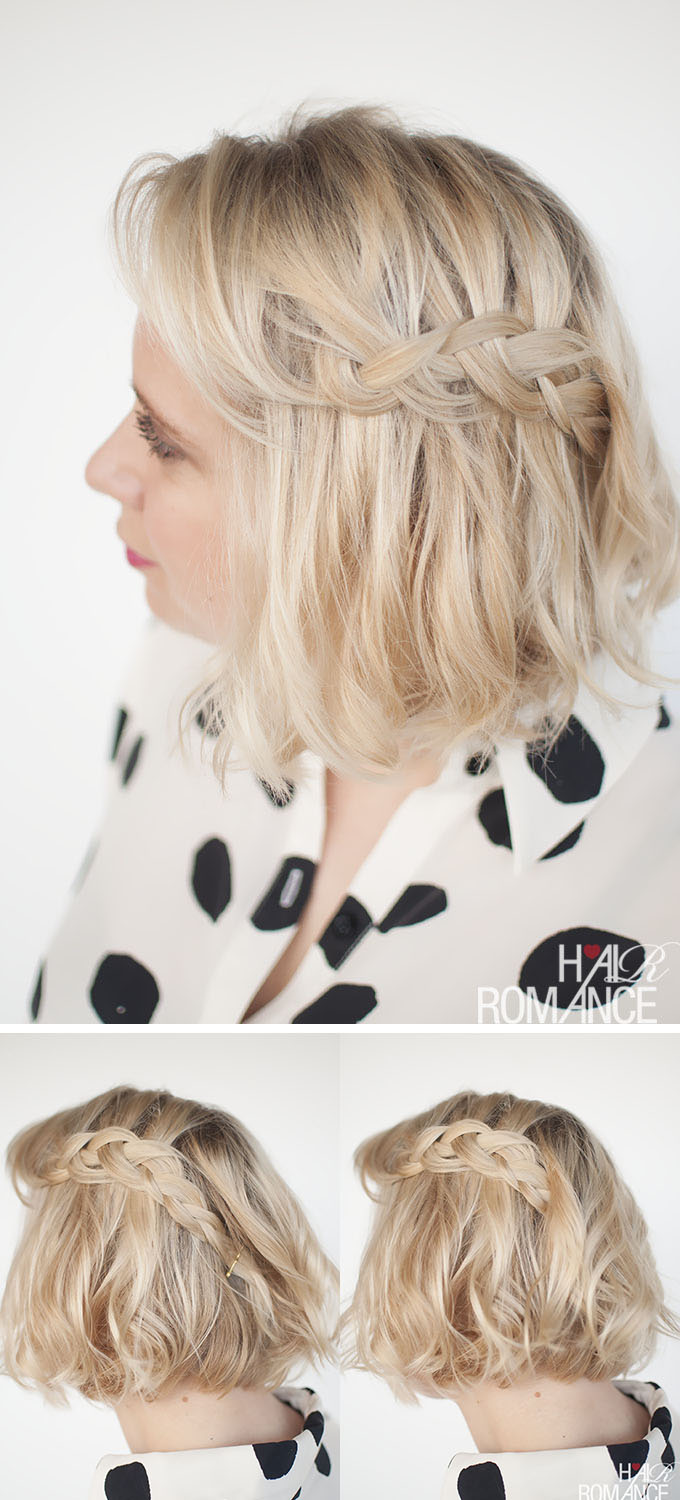 Hair Romance - how to wear braids in short hair