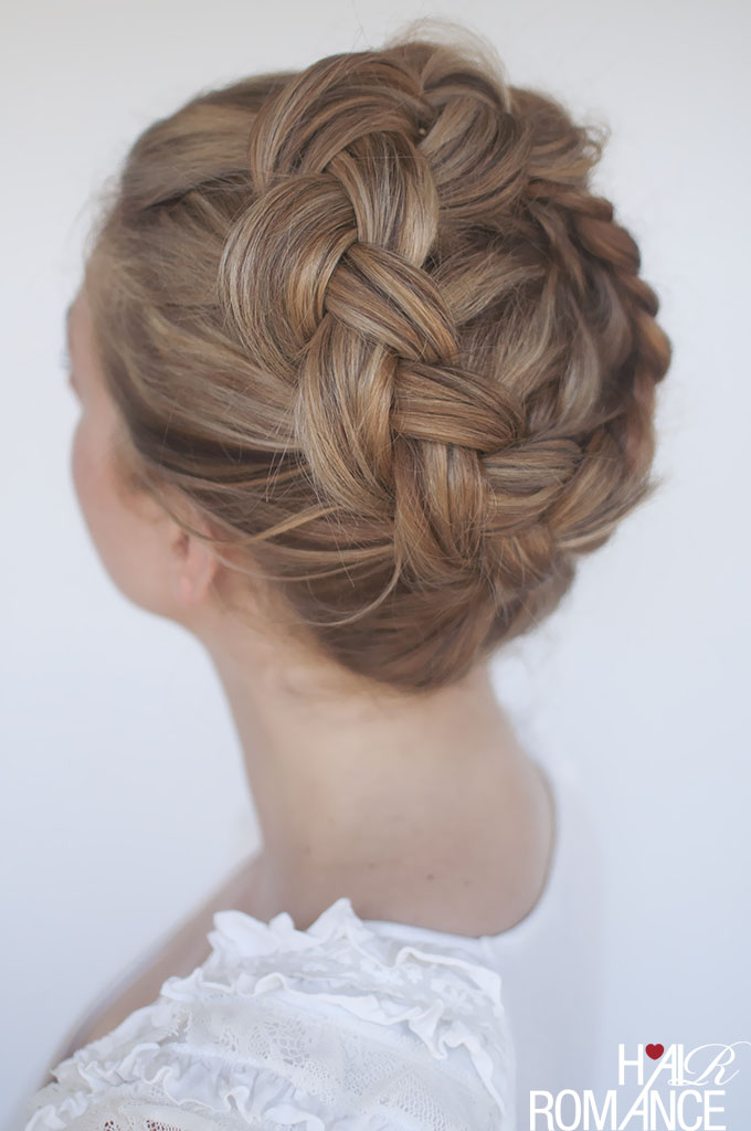 Hair Romance - high Dutch crown braid hairstyle tutorial