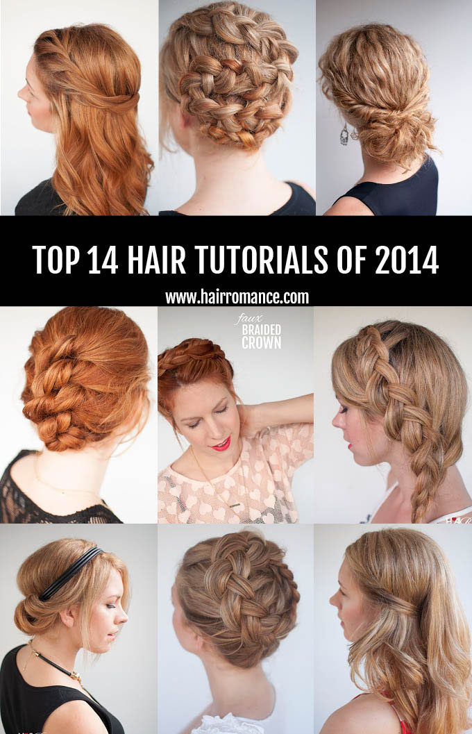 Hair Romance - the top 14 hair tutorials of 2014