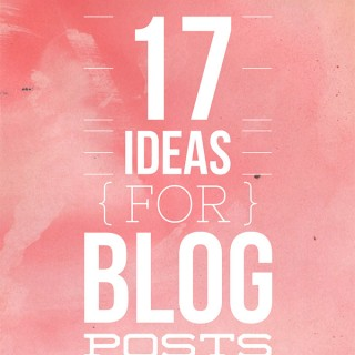Beauty Blog School – 17 ideas for blog posts