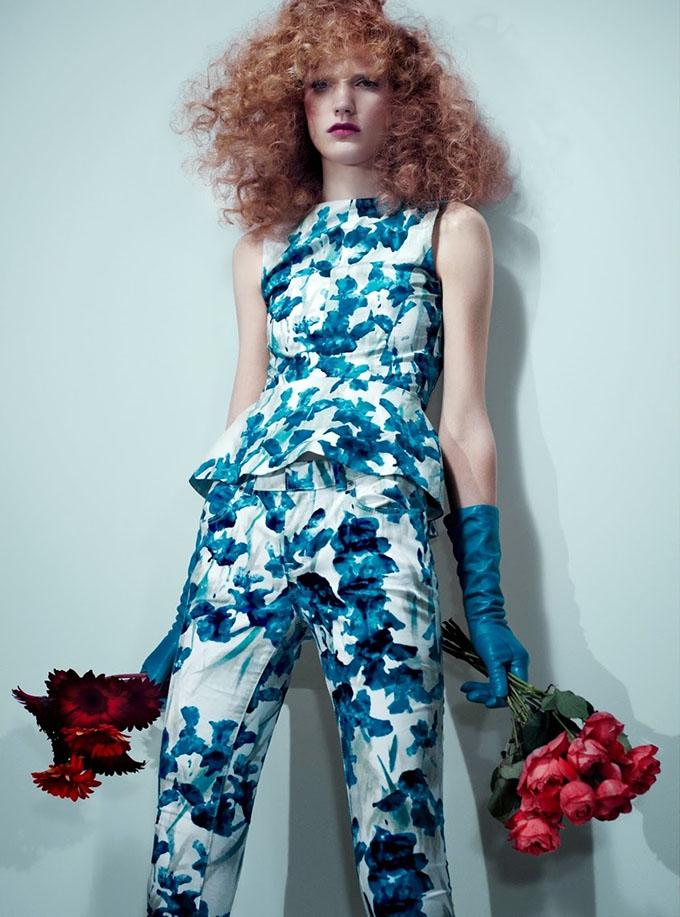 Big Hair Friday - Anniek Kortleve by Catherine Servel - UK Harper's Bazaar May 2013