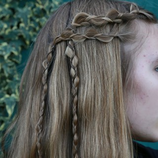 Viking inspired braids with How-to Hair Girl
