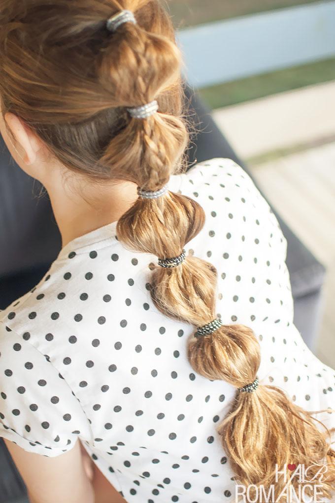 Hair Romance - School hair - braided bubble ponytail tutorial