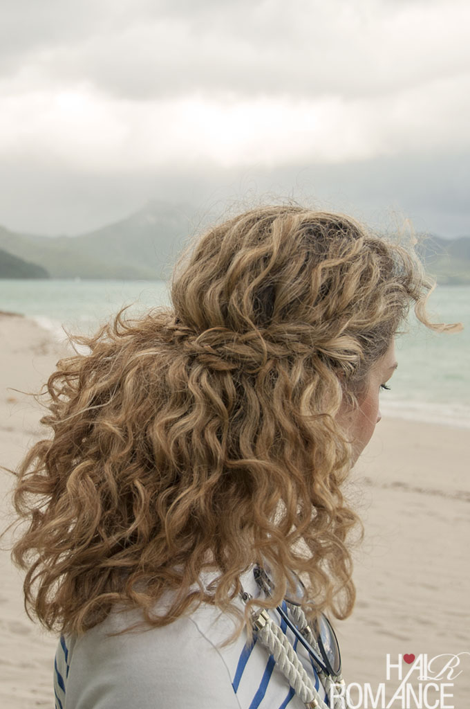 Hair Romance - Valentine's Day hair - half crown braid