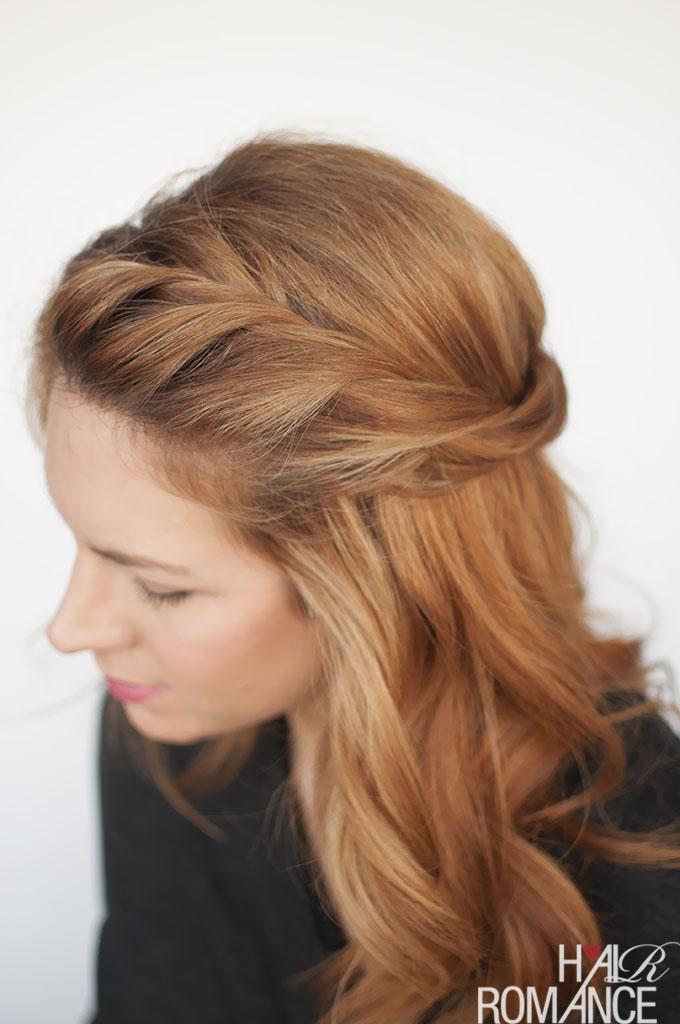 Hair Romance - Valentine's Day hair - half up twist
