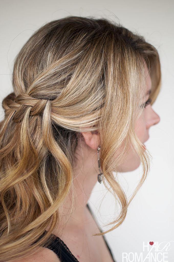 Hair Romance - Valentine's Day hair - waterfall plait braid