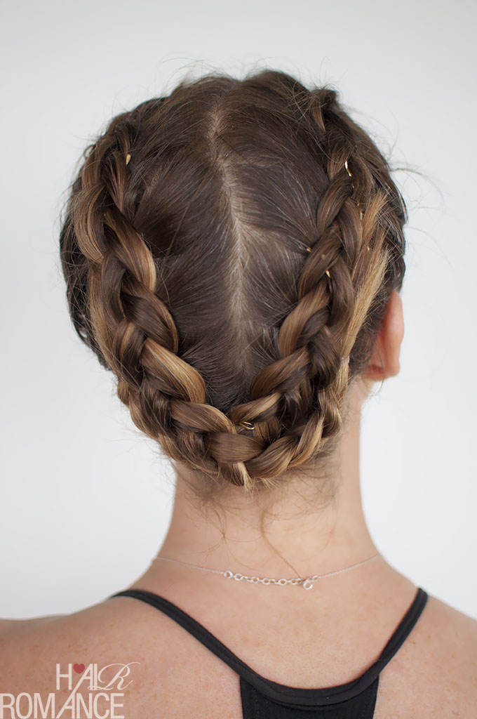 Hair Romance - gym workout hairstyle - double dutch back