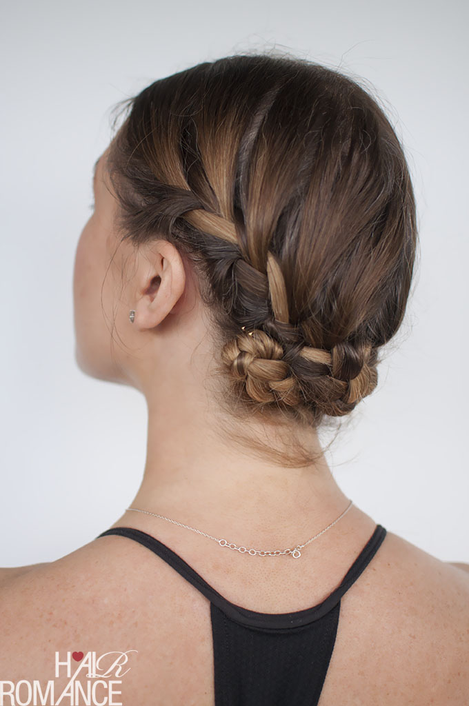 Hair Romance - gym workout hairstyle tutorial - double french braid back