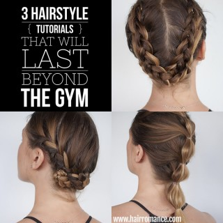 How to look good while you workout – 3 long-lasting hairstyle tutorials you can wear all day