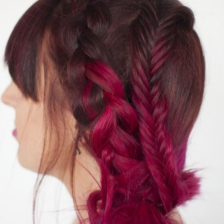 Big Hair Friday – Pink hair and braids