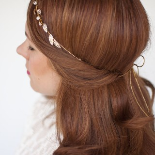Wedding hair inspiration – one headband, three ways