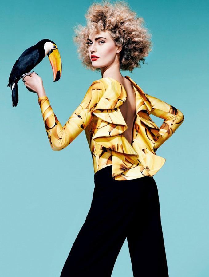 Big Hair Friday - Harpers Bazaar Brazil 1