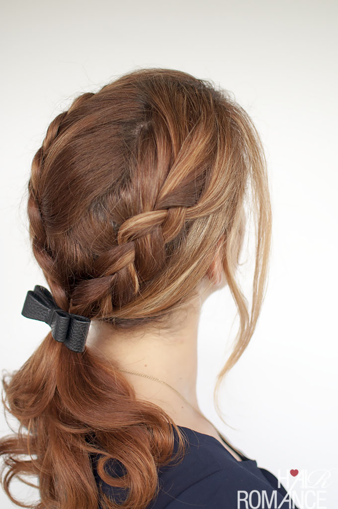 Hair Romance - Braid ponytail tutorial with bow