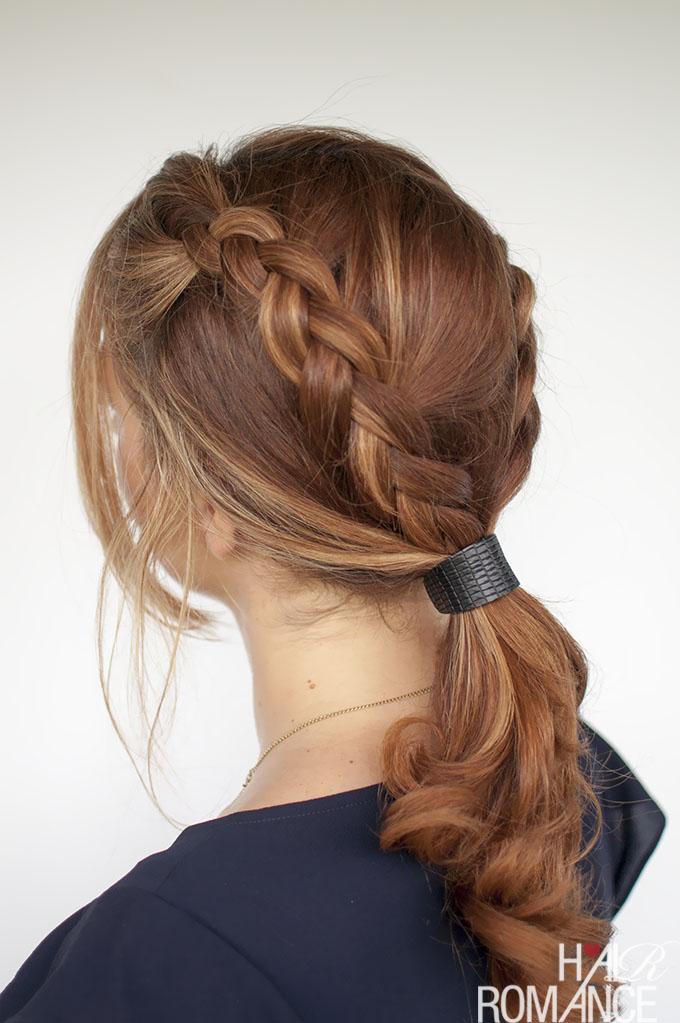 Hair Romance - Braid ponytail tutorial with cuff