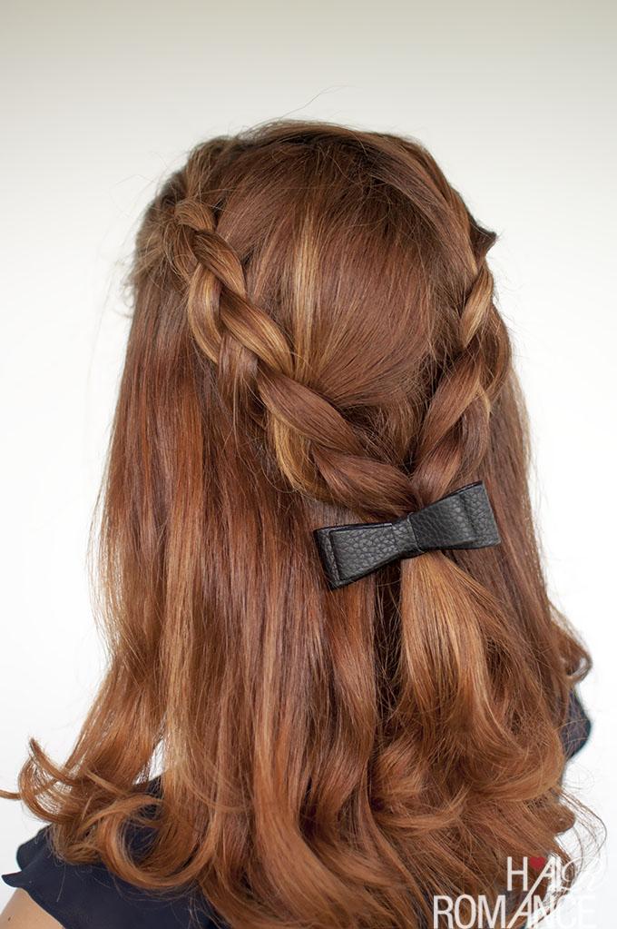 Hair Romance - Braid tutorial half up with bow